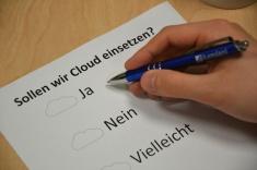Entscheidung für oder gegen die Cloud (Foto: Alexander Bose)