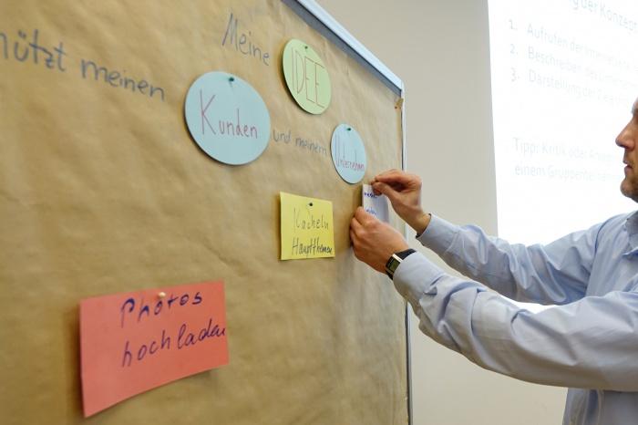 Workshop teilnehmer entwickeln erfolgreich ideen f r ihre - Ideen fur pinnwand ...